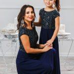 """Комплект платьев для мамы и дочки """"Эльза"""" М-2010"""