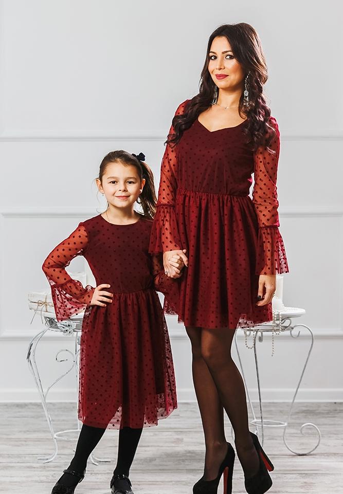 """Комплект платьев для мамы и дочки """"Катрин"""" М-2007"""