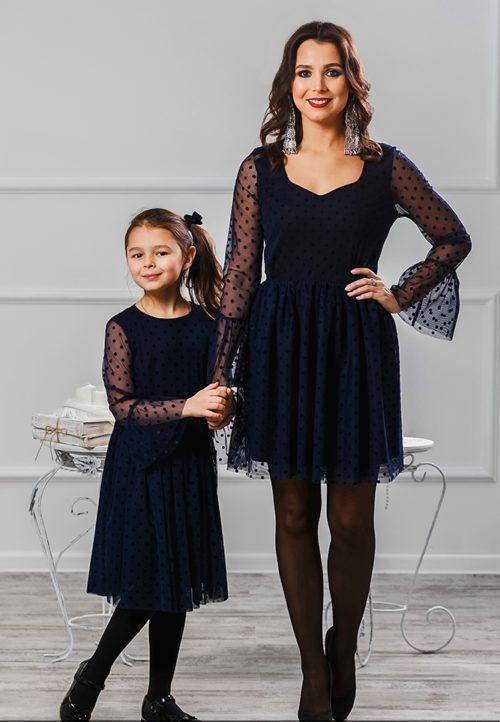 Комплект платьев для мамы и дочки «Катрин» М-2007