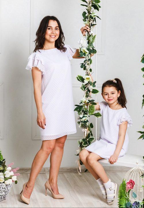"""Комплект платьев для мамы и дочки """"Гармония"""" М-2031"""