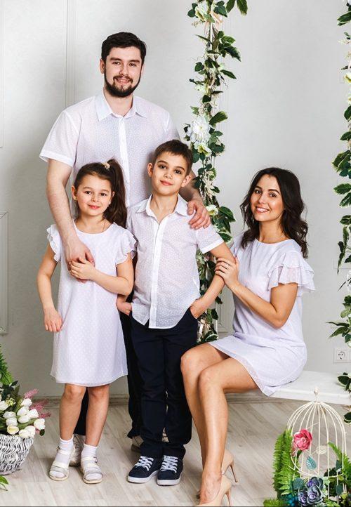Комплект платьев для мамы и дочки «Гармония» М-2031