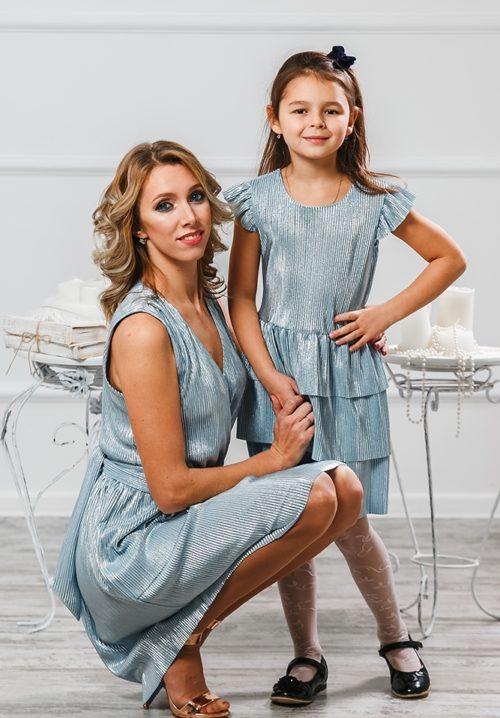 """Комплект платьев для мамы и дочки """"Гафре"""" М-2011"""