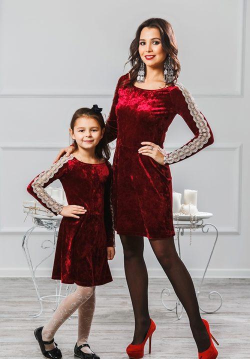 """Комплект платьев для мамы и дочки """"Маркиза"""" М-2012"""