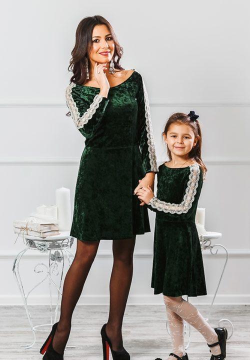 Комплект платьев для мамы и дочки «Маркиза» М-2012