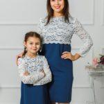 """Комплект платьев для мамы и дочки """"Мелания"""" М-292"""