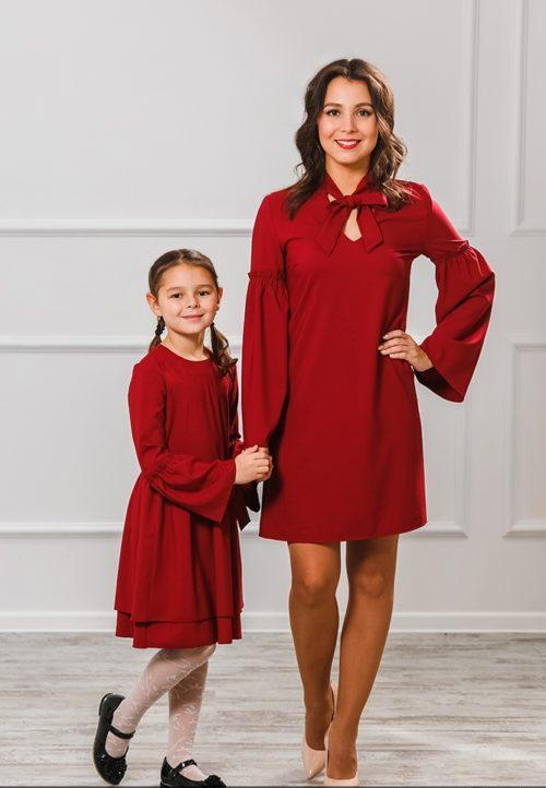 Комплект платьев мама+дочка «Камилла» М-2006