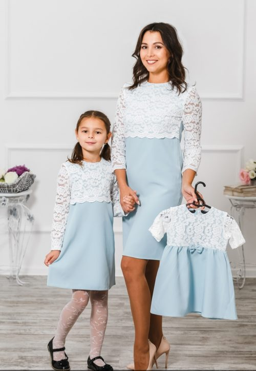 Комплект платьев для мамы и дочки «Мелания» М-292