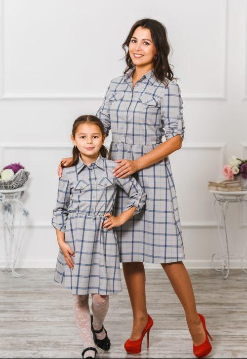 """Комплект платьев для мамы и дочки """"Глория"""" М-294"""