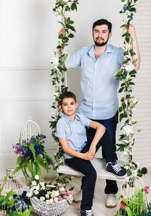 """Комплект family look для всей семьи """"Бриз"""" М-2026"""