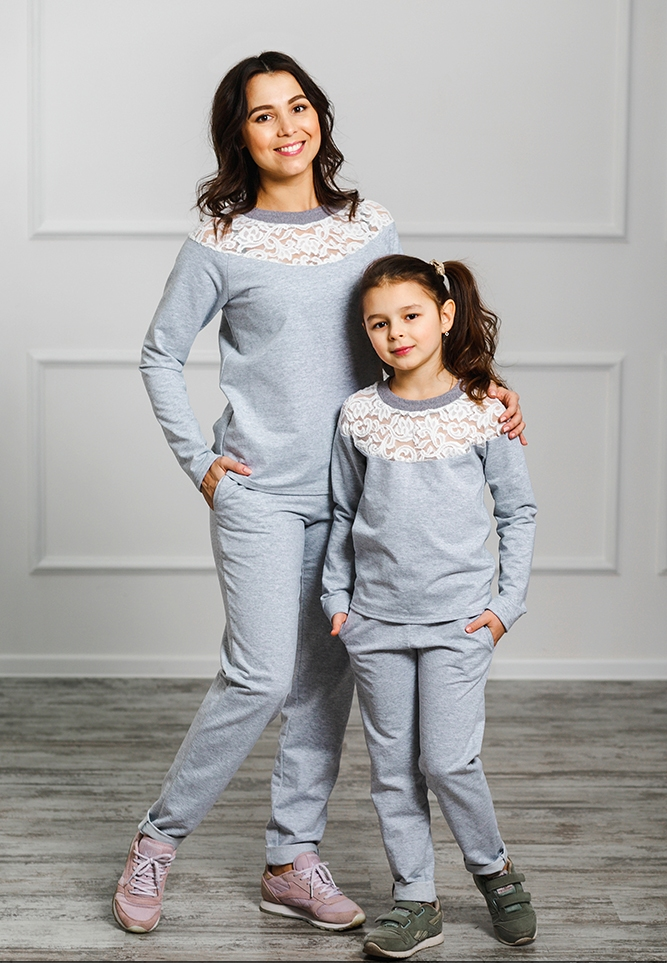 """Спортивный костюм для мамы и дочки """"Уют"""" М-2025"""