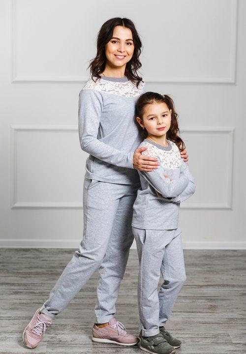 Спортивный костюм для мамы и дочки «Уют» М-2025