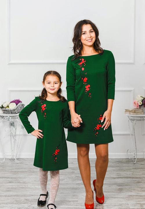"""Комплект платьев для мамы и дочки """"Сакура"""" М-297"""