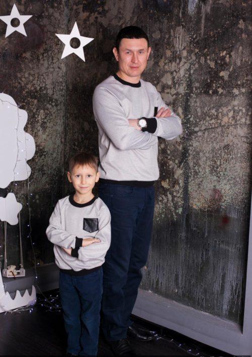 Комплект джемперов и туник Family Look для всей семьи «Актив» М-230