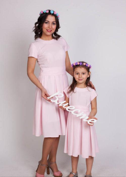 """Комплект платьев Family Look для мамы и дочки """"Грация"""" М-257"""