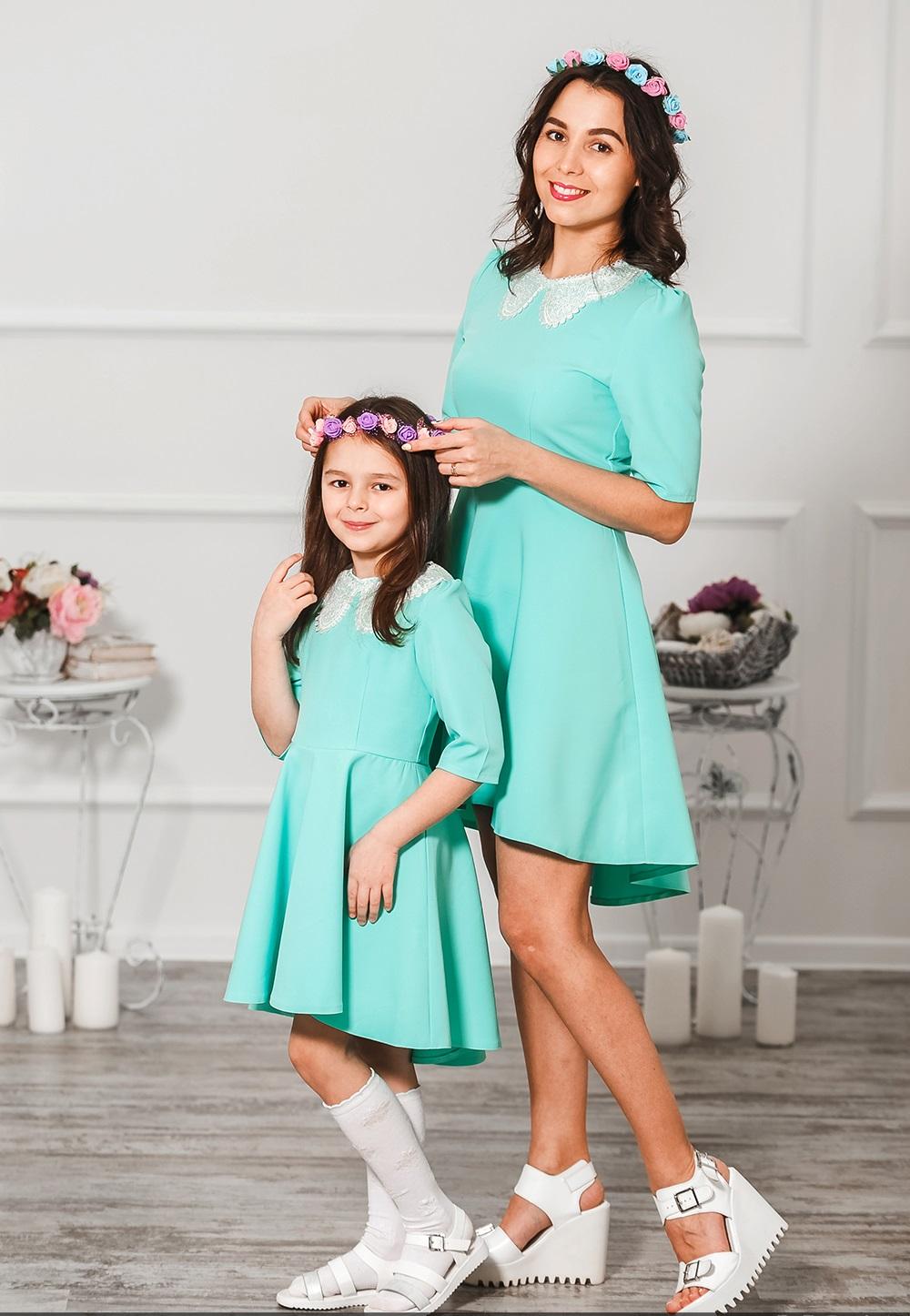 """Комплект платьев мама и дочка """"Жизель"""" М-290"""