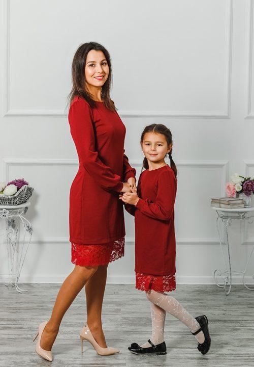 "Комплект платьев мама и дочка ""Винтаж"" М-279"