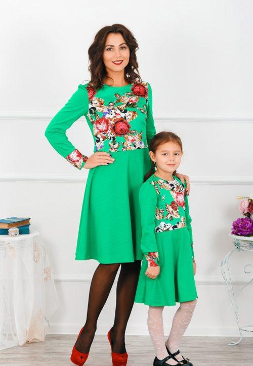 Комплект платьев мама и дочка «Русская краса» М-265