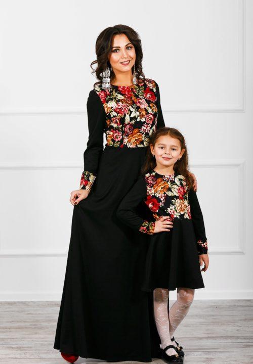 Комплект платьев мама и дочка «Русская краса» М-273