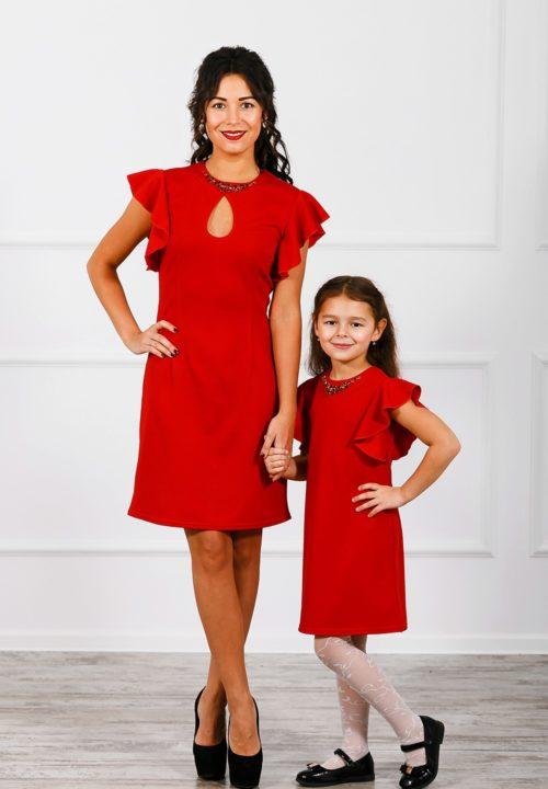 Комплект платьев мама и дочка «Крылышки» М-271