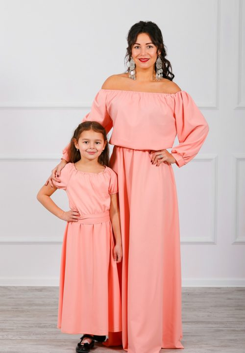 """Комплект платьев Family Look для мамы и дочки """"Элегия"""" М-244"""