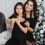 """Комплект платьев Family Look для мамы и дочки """"Бусинки"""" М-2049"""