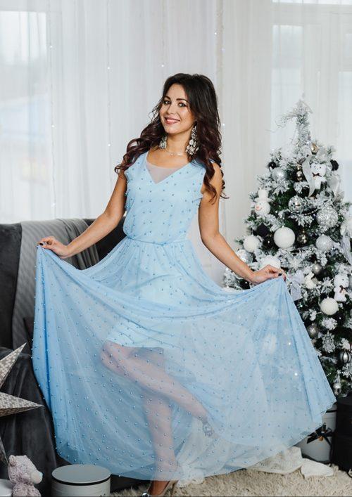 Вечернее платье в пол » Жасмин» М-1054