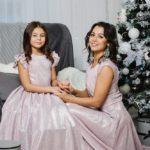 """Комплект платьев Family Look для мамы и дочки """"Золушка"""" М-2055"""
