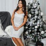 """Коктейльное платье-миди """"Джесика"""" М-1052"""