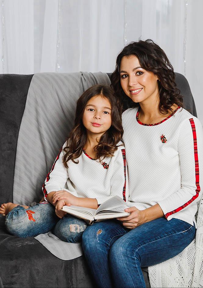 "Свитшоты мама+дочка ""Mery Christmas"" М-2050"