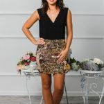 "Коктейльное платье ""Бурлеск"" М-1015"