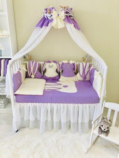 Комплект в кроватку «Зайка-Засыпайка»