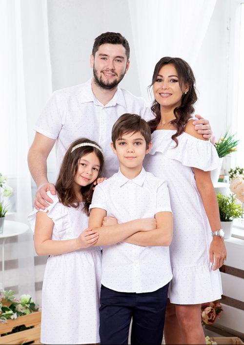 """Комплект для всей семьи одном стиле  """"Майями"""" М-2081"""