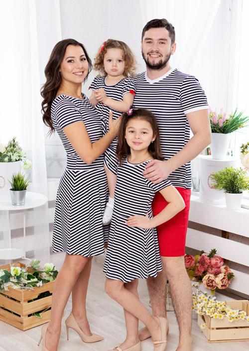 Family look для всей семьи «Полосатый рейс» М-2071