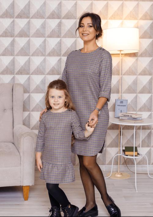 """Комплект платьев в одном стиле для мамы и дочки """"Калифорния"""" Модель: М-2099"""