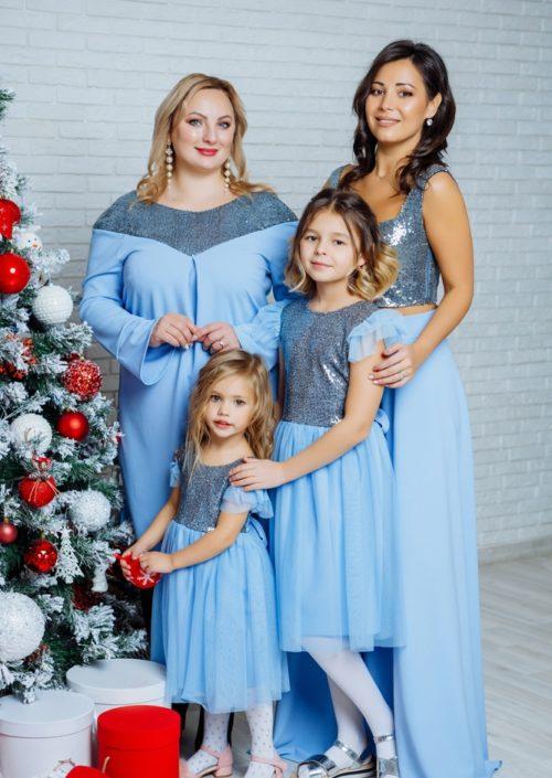 """Вечерний комплект для мамы и дочки """"Ариэль"""" М-2110"""
