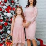 """Нарядные платья в одном стиле для мамы и дочки""""Беверли"""" М-2105"""