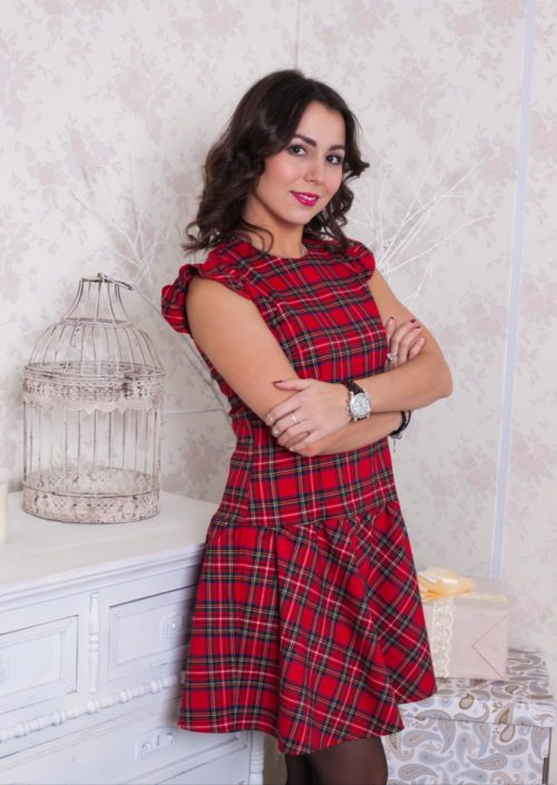 """Платье """"Шотландка"""" М-150"""