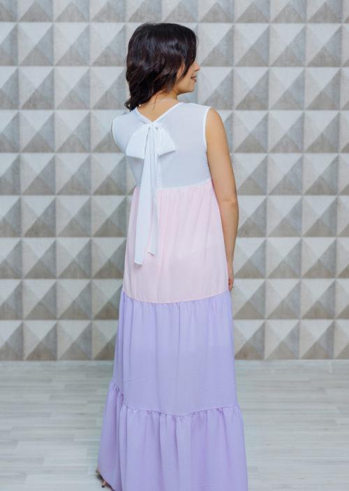 """Комплект платьев в стиле Family Look для мамы и дочки """"Майорка"""" М-2118"""