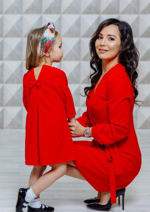 """Комплект платьев для мамы и дочки """"Бэтти"""" М-2121"""