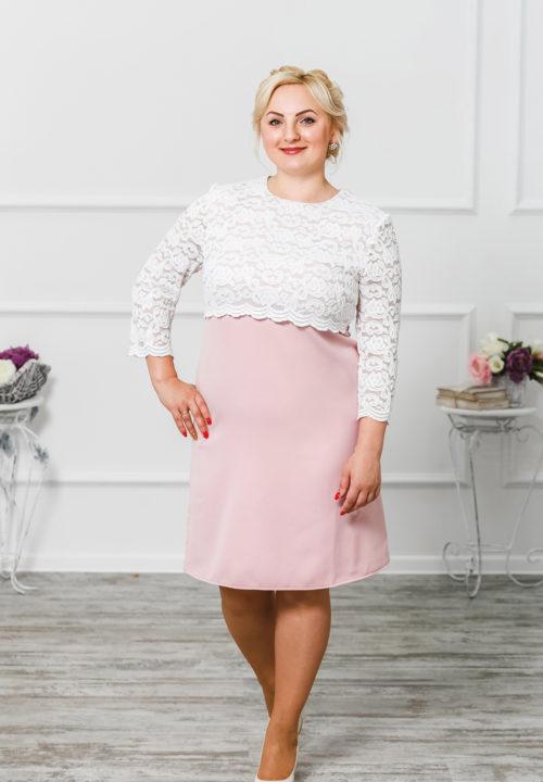"""Платье с кружевной кокеткой """"Мелания"""" М-192"""