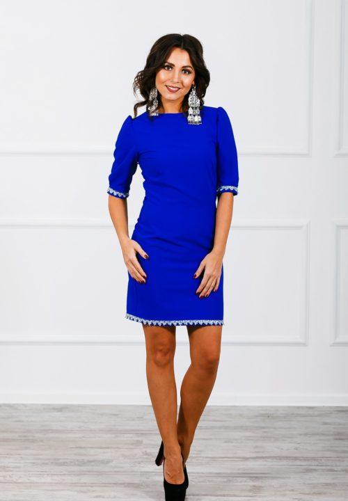 Платье-футляр со съемной юбкой М-172