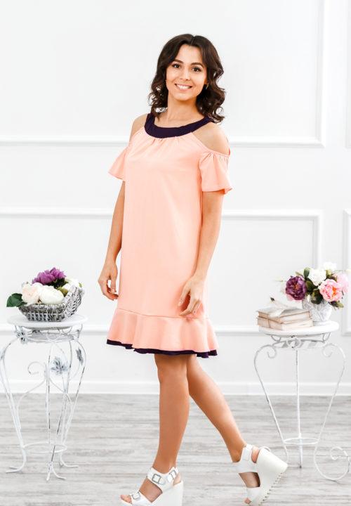 """Платье с открытыми плечами """"Сара"""" М-185"""