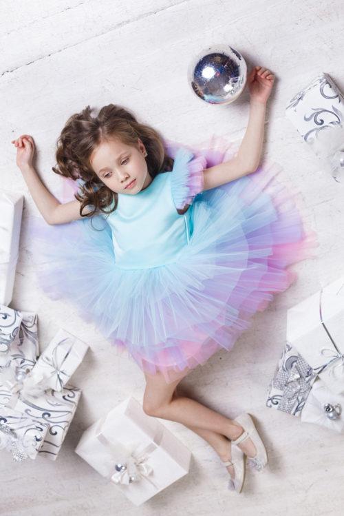 Нарядное платье для девочки – Единорог