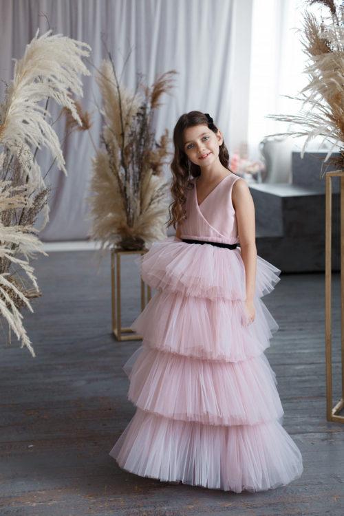 Нарядное платье в пол для девочки – Алиса