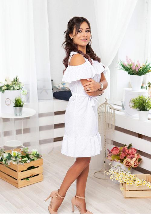"""Летнее платье с воланами """"Майями"""" М-1081"""