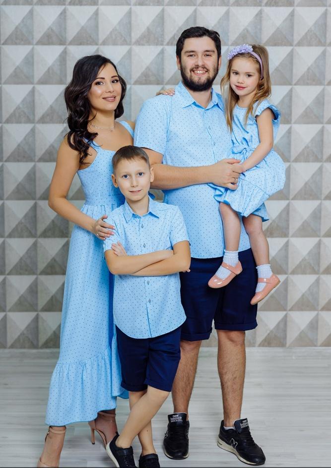 """Комплект для всей семьи в стиле family look """"Флорида"""" М-2116"""