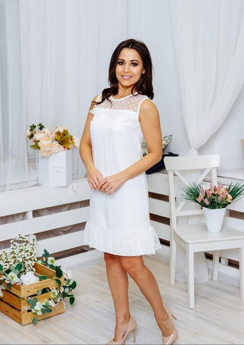 """Платье с воланом """"Суфле"""" М-1060"""