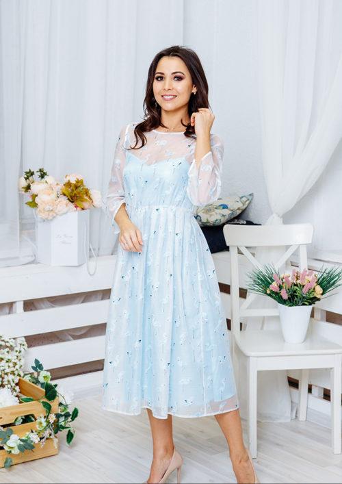 """Нарядное платье """"Фламинго"""" М-1067"""