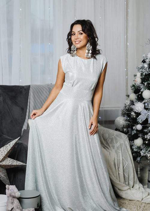 """Вечернее платье с открытой спинкой """"Золушка"""" М-1055"""