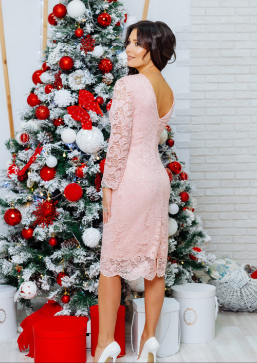 """Кружевное платье """"Беверли"""" М-1105"""